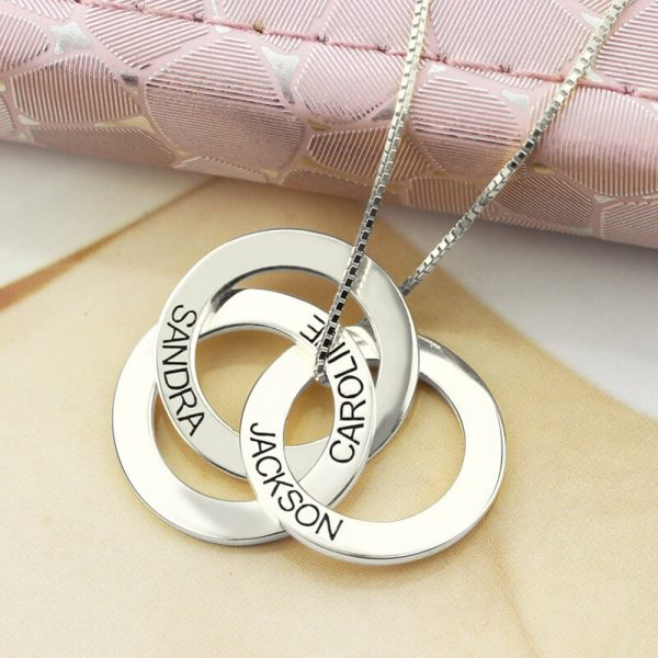 Russian Ring Necklace with Engraving 4
