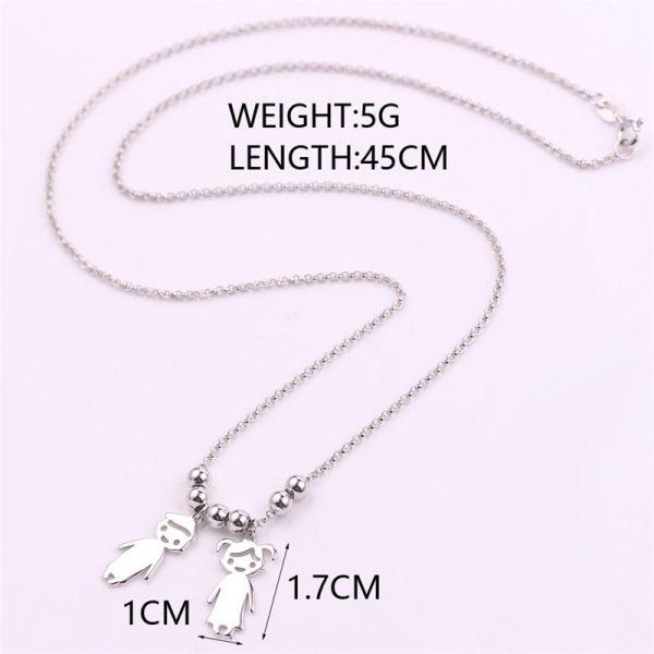 Engraved Children Charm Pendant Necklace 5