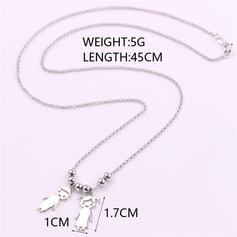 db4d952df Engraved Children Charm Pendant Necklace - Fancelite