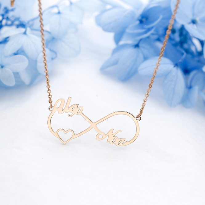 Personalized Infinity Pendant Necklace 3