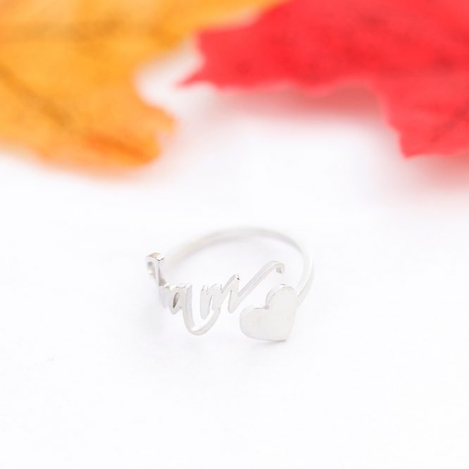 ELITE Personalized Name & Heart Ring 3