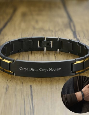 Personalized Men's Black Bracelets