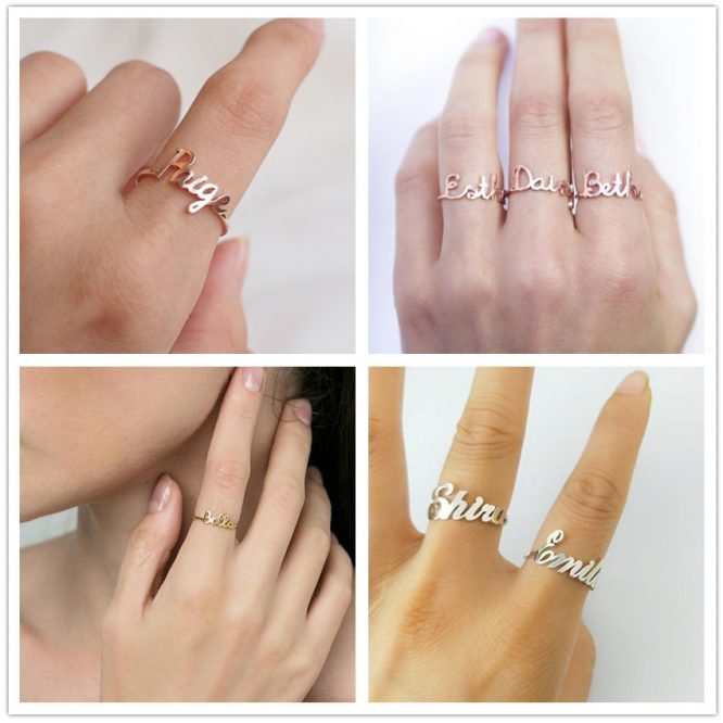 FANCELITE ORIGINAL Personalized Name Ring  3