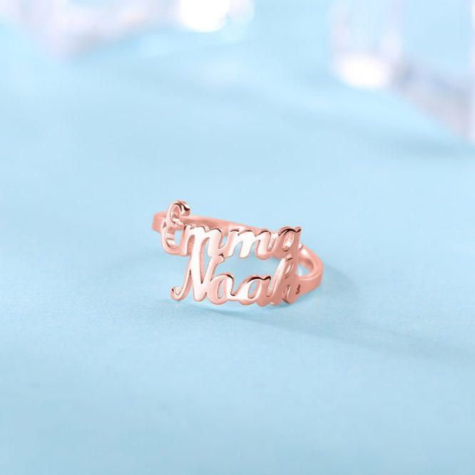 Two Name Custom Personalized Ring 1