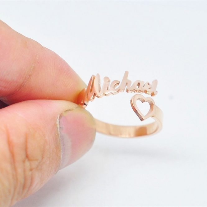 ELITE Personalized Name & Heart Ring 1