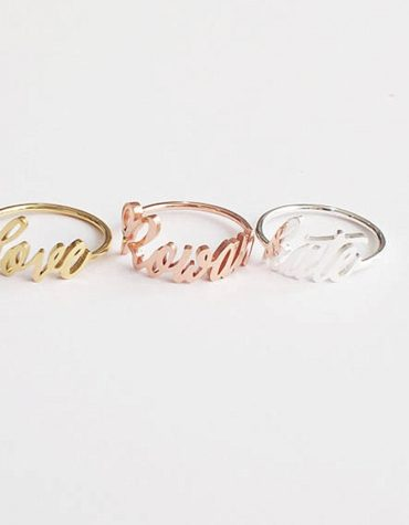 FANCELITE ORIGINAL Personalized Name Ring