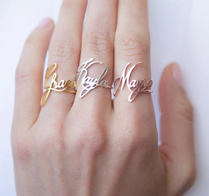 FANCELITE ORIGINAL Personalized Name Ring  1