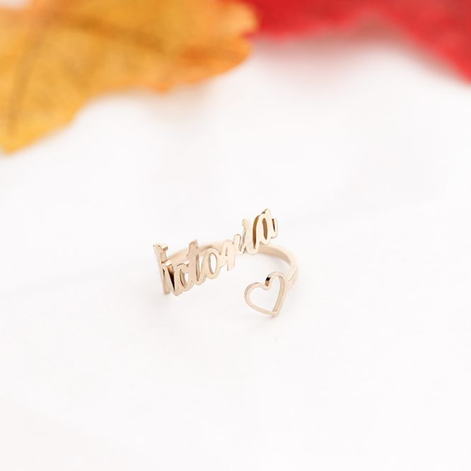 ELITE Personalized Name & Heart Ring