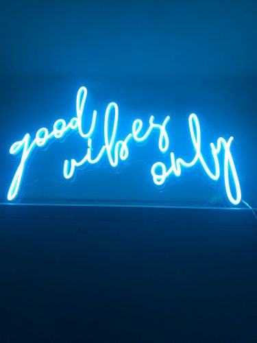 GOOD VIBES ONLY Neon LED Sign photo review